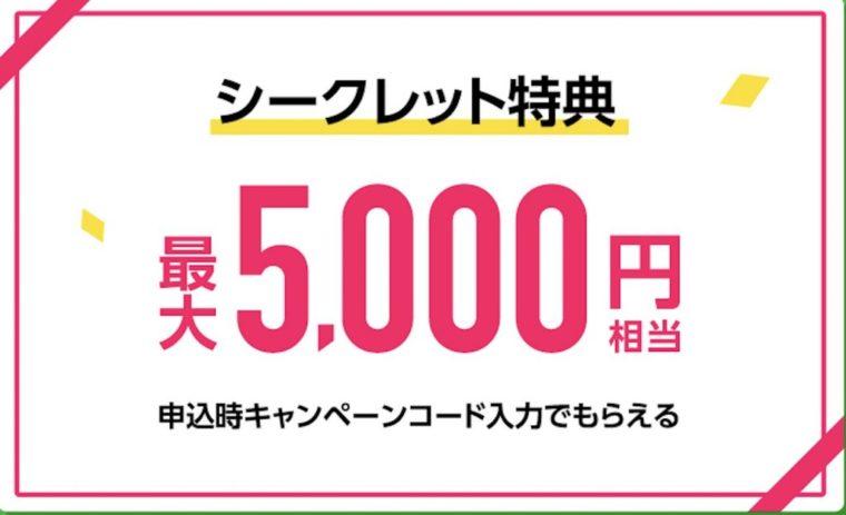 前代未聞のサービスSIMカードのみの契約で、5000円相当のLINEpay